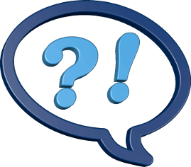 Sprechblase Fragezeichen Ausrufezeichen