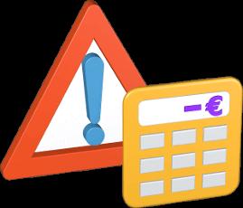 Warnzeichen Taschenrechner