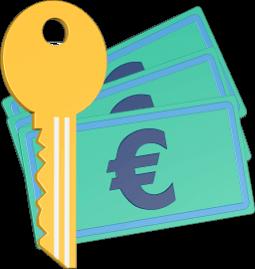 Geld Schlüssel