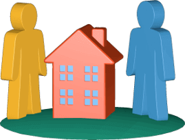 Haus Immobilie zwei Personen