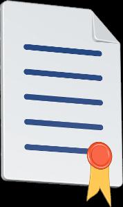 Dokument mit Siegel