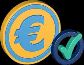 Eurozeichen Häkchen