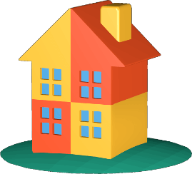 Haus aufgeteilt