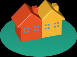 zwei Häuser Immobilien