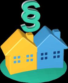 zwei Häuser Paragraphensymbol