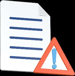 Dokument Warnzeichen