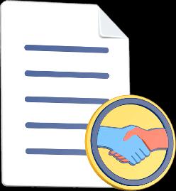 Dokument shake Hands