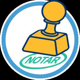 Grafik 2D Icon Stempel Notar