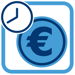 Grafik Icon Geld Euro Zeit realkredit