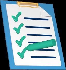 3D Icon Grafik Checkliste
