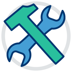 Icon Grafik Werkzeug hammer schraubenzieher