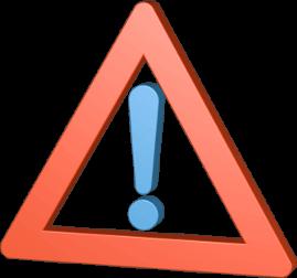 Grafik 3D Icon Warnschild