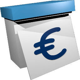 3D Grafik Icon Kalender Eurozeichen