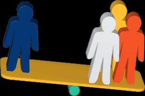 3D Grafik Icon Wippe Personen