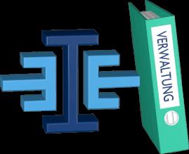 Grafik 3D Icon Immoeinfach Logo Aktenordner