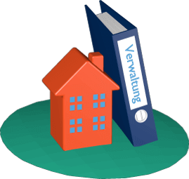 Grafik Icon 3D Haus Immobilie Aktenordner