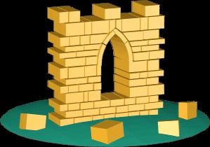 3D Grafik Icon Mauer Steine