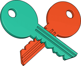 Grafik Icon 3D Schlüssel
