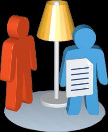 Icon 3D Grafik Stehlampe Personen Dokument