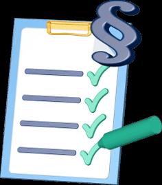 checkliste paragraphenzeichen recht gruener stift