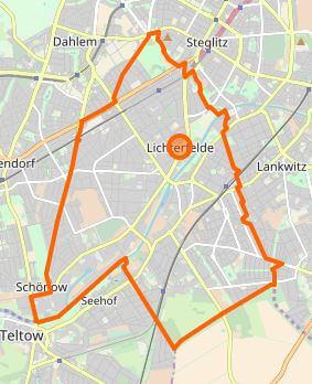 Lichterfeld Karte Berlin