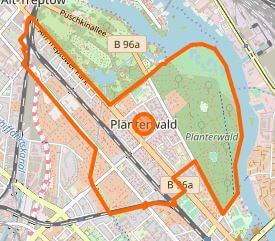 Berlin Plaenterwald karte