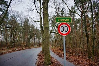 Ortseingang Grunewald Berlin Schild