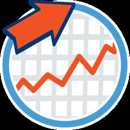 Graph Kurve Pfeil nach oben Maklerrecht