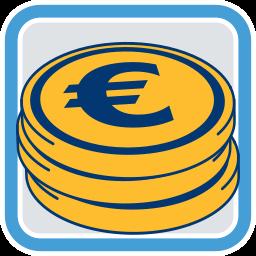 Geld Münzen Maklerprovision