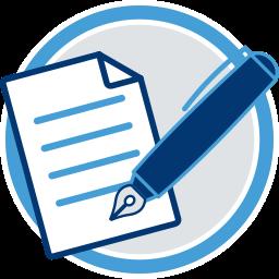 Dokument Füllfederhalter Maklervertrag