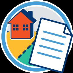 Haus Grundstück Dokument Immobilienverkauf