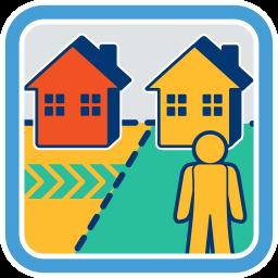 zwei Grundstücke Häuser Zufahrtsmöglichkeit