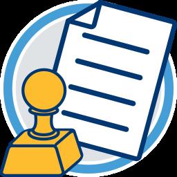 Stempel Dokument Umlegungsverfahren Ablauf