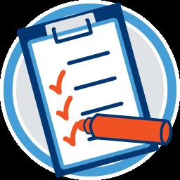 Checkliste Klemmbrett Umlegungsverfahren