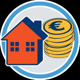 Haus Immobilie Geld Münzen