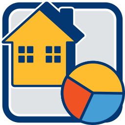 Haus Immobilie Tortengrafik Teil-, Sonder- und Gemeinschaftseigentum