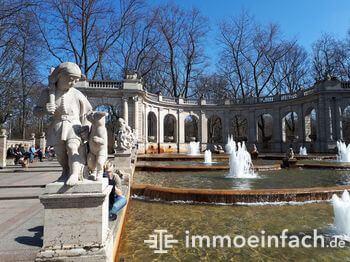 Friedrichshain Park Maerchenbrunnen fontaine