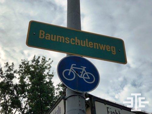 baumschulenweg ortseingang schild fahrrad verkehrsschild