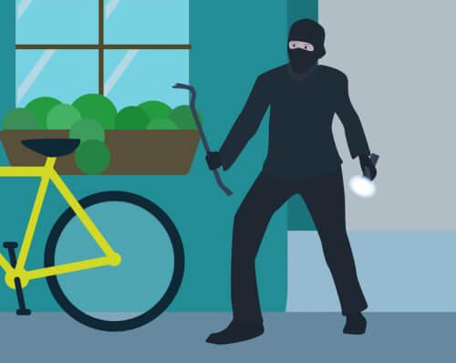 Einbrecher am Haus