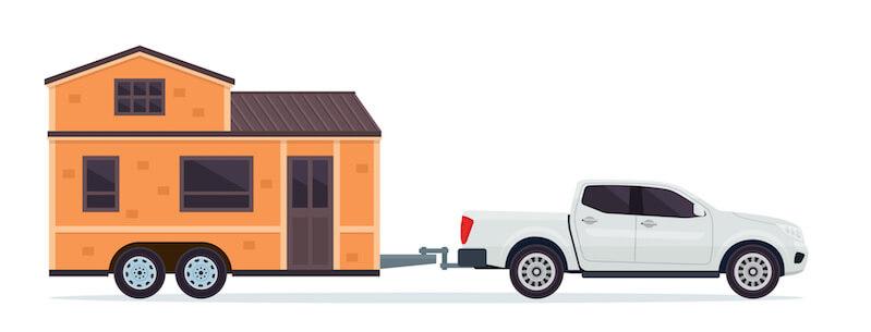 Tiny Haus auf Rädern am Pkw