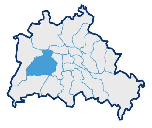 Umrisskarte der Berliner Bezirke