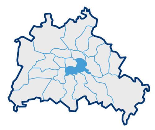 Kartenübersicht zu Berlin Kreuzberg-Friedrichshain