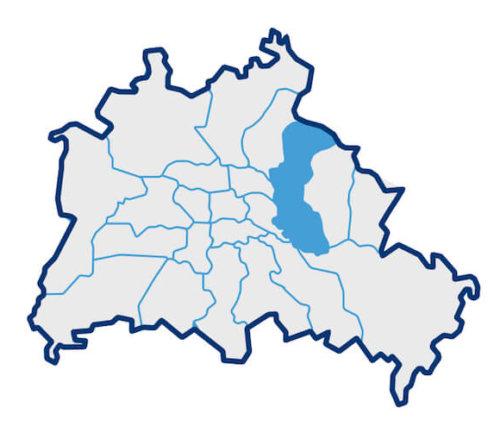 Karte über Berliner Bezirke
