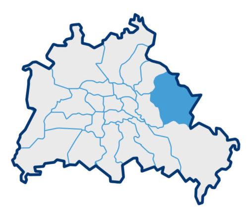 Karte zum Bezirk Marzahn-Hellersdorf in Berlin