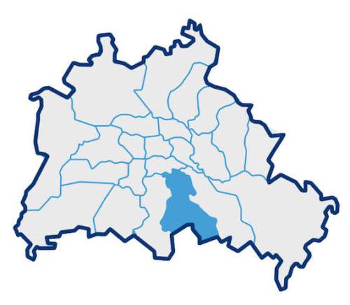 Karte über die Berliner Bezirke