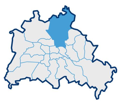Karte zu den Berliner Bezirken