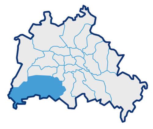 Karte zum Berliner Bezirk Steglitz-Zehlendorf
