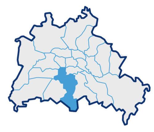 Karte zum Bezirk Schöneberg-Tempelhof
