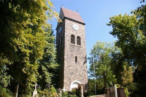 lichtenrade kirche christentum uhr turm