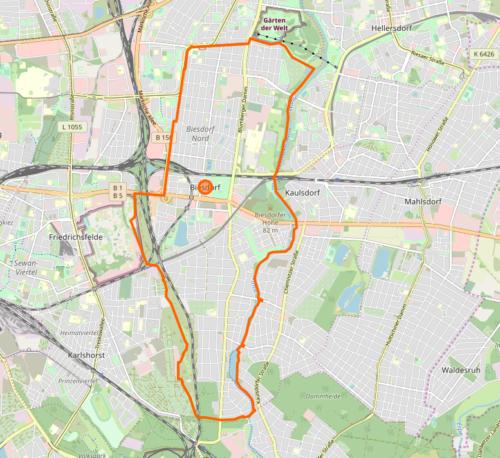 Karte Biesdorf OpenStreetMap